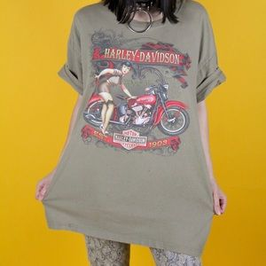 Pin up girl Harley Davidson tee